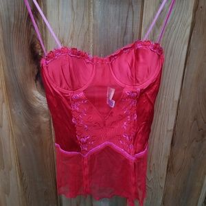 Red Sexy sheer Nighty